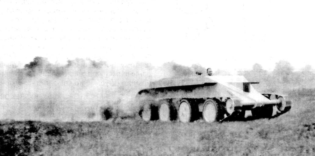 Облегчённый колёсно-гусеничный танк без башни, выдаваемый Кристи за прототип «летающей машины»