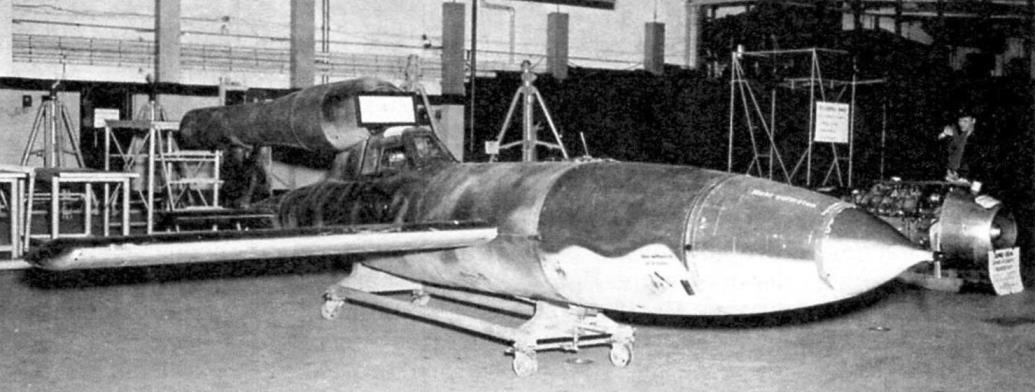 «Райхенберг I», переделанный из «Фау-1». В носу видна крыльчатка аэролага