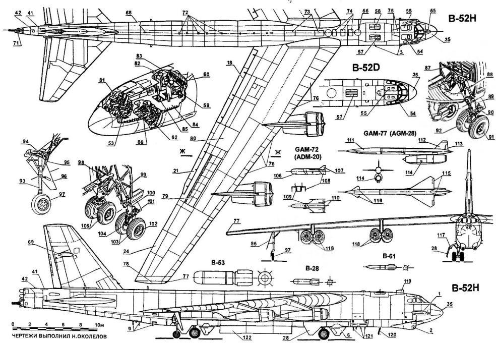 Стратегический бомбардировщик Boeing B-52H