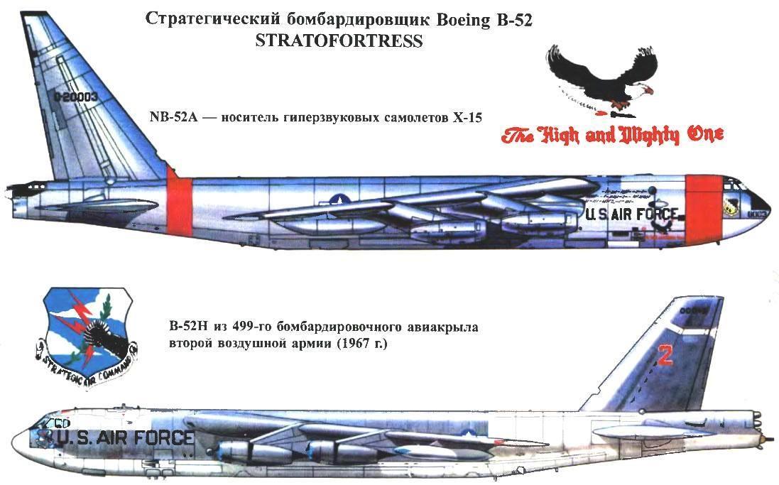 Стратегический бомбардировщик Boeing В-52 STRATOFORTRESS