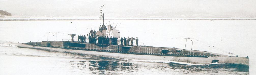 Субмарина «Санэ» выходит из гавани Тулона, середина 1920-х гг.