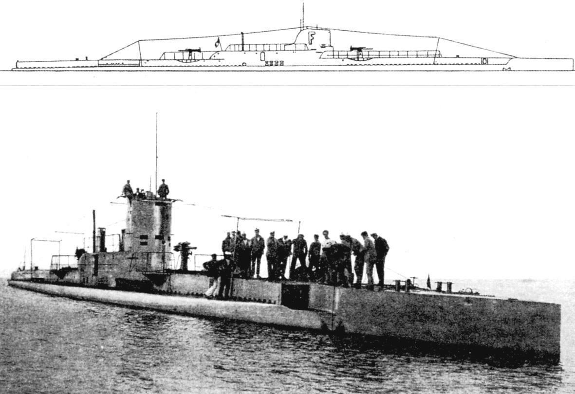 FULTON, 1923. Подводная лодка «Фультон» (Q-110), Франция, 1920 г.