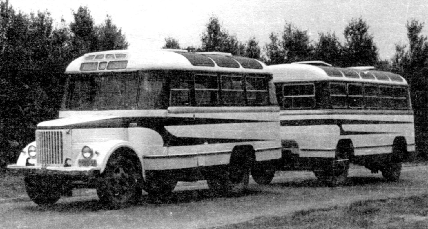 Prototype bus-train GROOVE-671 AND trailer GROOVE-750A