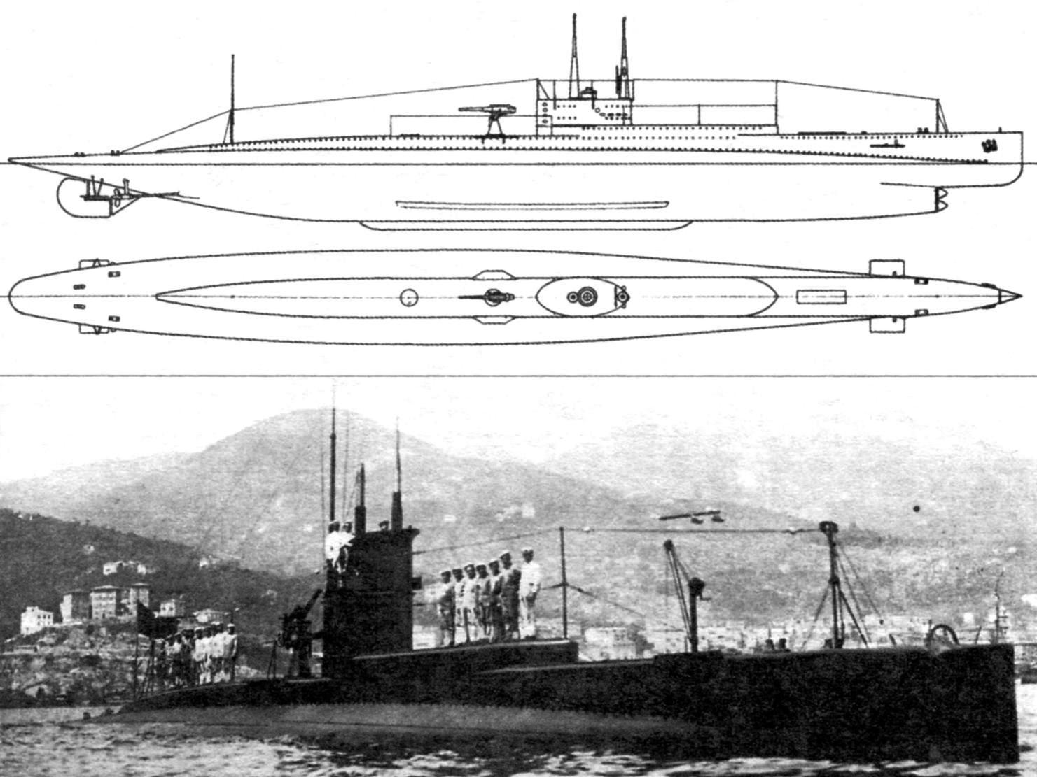Подводная лодка «N-1», Италия, 1918 г.