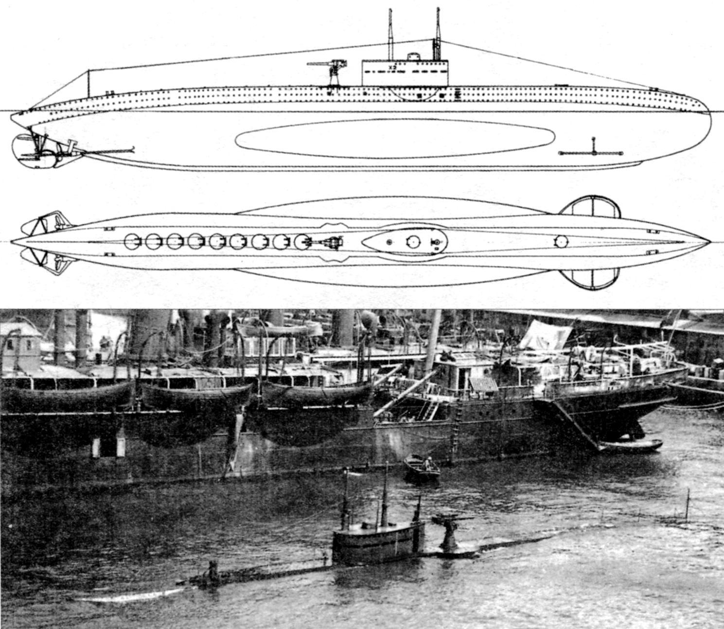 Подводный заградитель «Х-2», Италия, 1918 г.