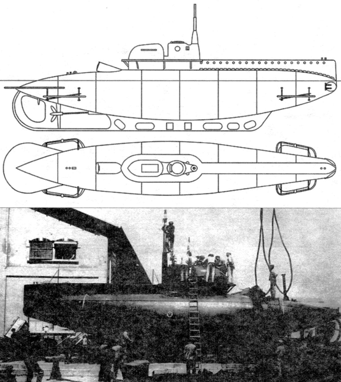 Малая подводная лодка «В-1», Италия, 1916 г.