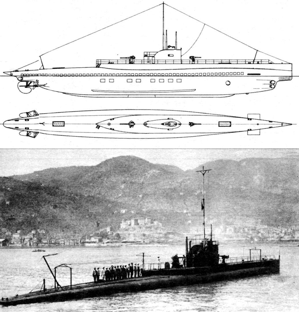 Подводная лодка «Пьетро Микка», Италия, 1917 г.