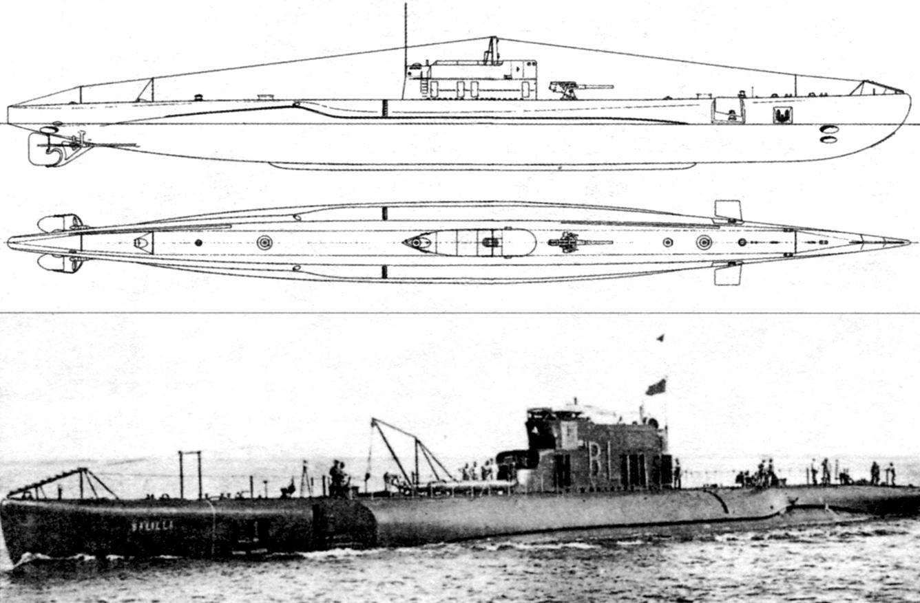Подводная лодка «Балилла», Италия, 1928 г.