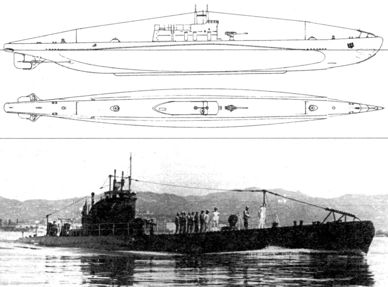 Подводная лодка «Гоффредо Мамели», Италия, 1928 г.
