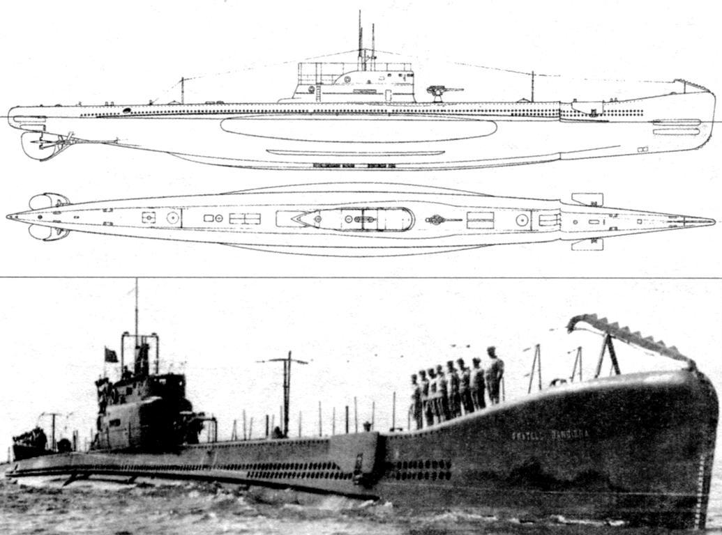 Подводная лодка «Фрателли Бандьера», Италия, 1930 г.