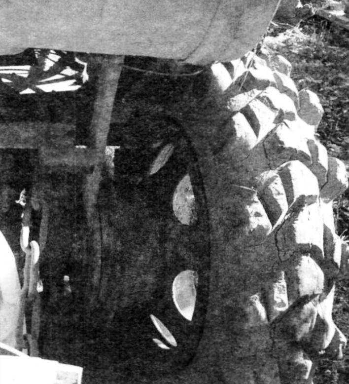 Фрагмент заднего моста от электрокара