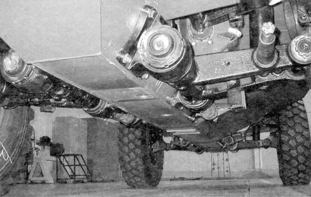 Protection of the V-shaped bottom of the armored car corresponds to the 5th level according to the GOST R. the Drivetrain is borrowed from the car