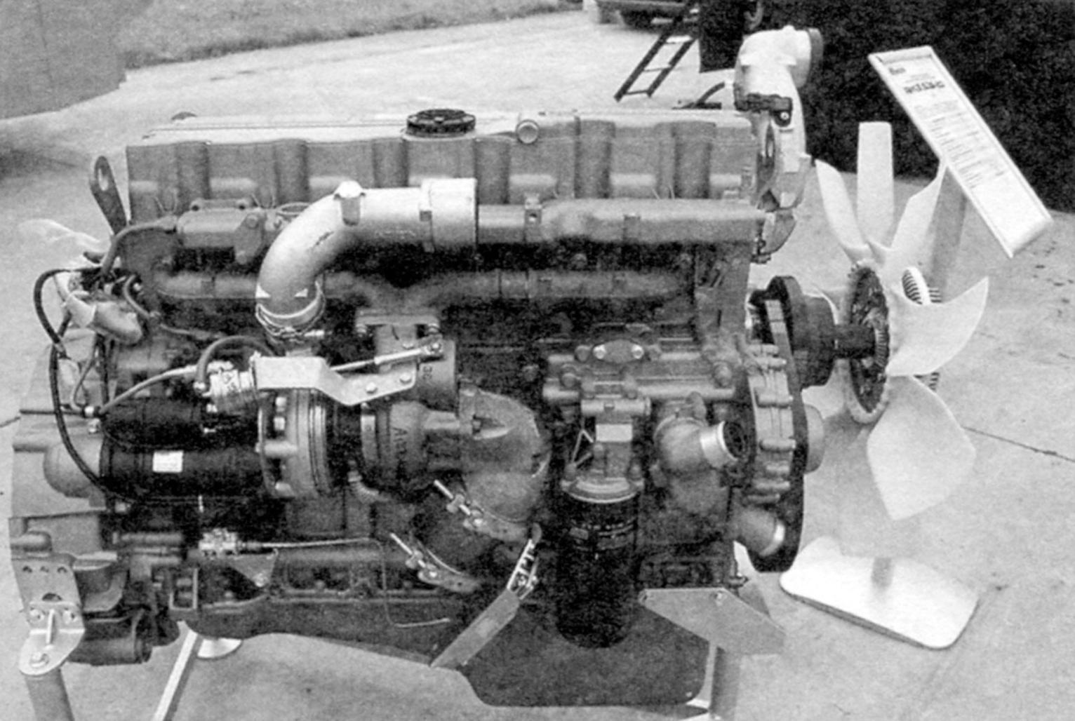 Diesel 6-cylinder engine yaz-536 turbo Yaroslavl motor plant mounted on the armored car. Power - 312 HP, weight - 640 kg, the economic norm EURO-4