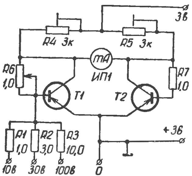 Simple voltmeter