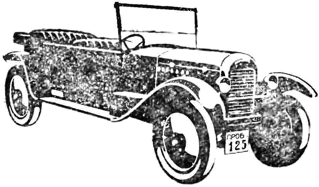 Первый советский серийный микроавтомобиль «НАМИ-1» (1028 — 1930 гг.).