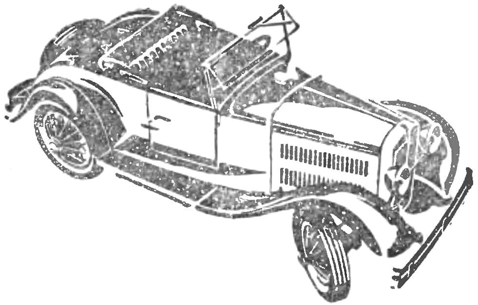 Опытный образец машины «НАТИ-2» (1932 г.).