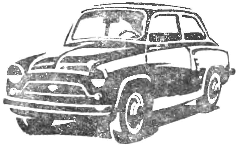 Экспериментальный микроавтомобиль «Москвич-444» (1957 г.).