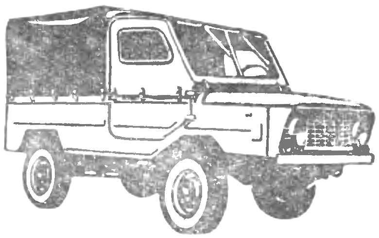 «ЛУАЗ-969» со всеми ведущими колесами,