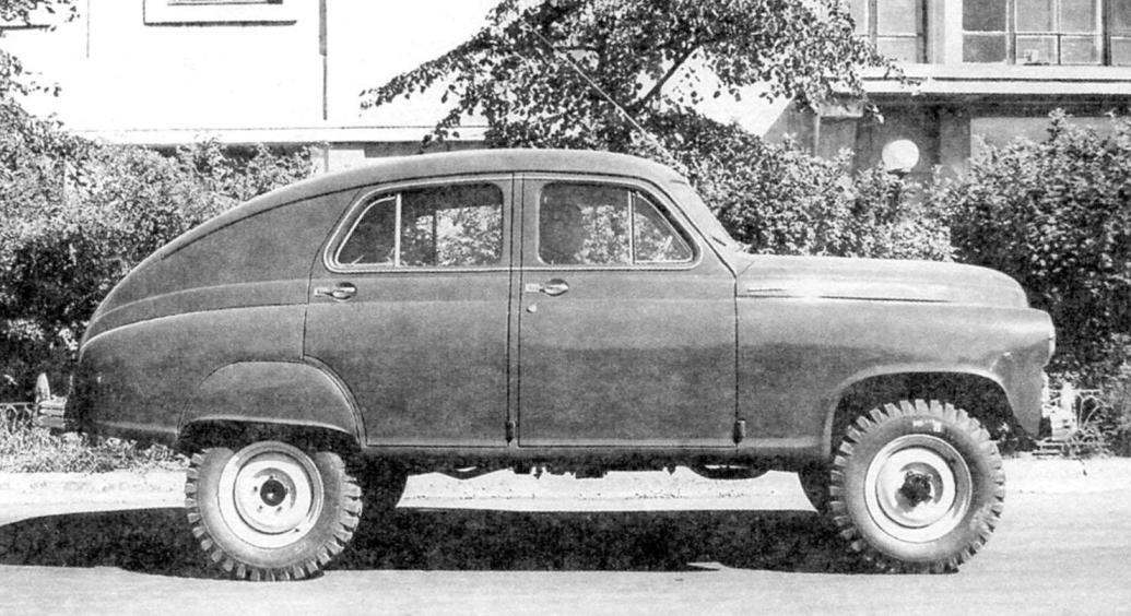 Автомобиль М-72 на шасси ГАЗ-69