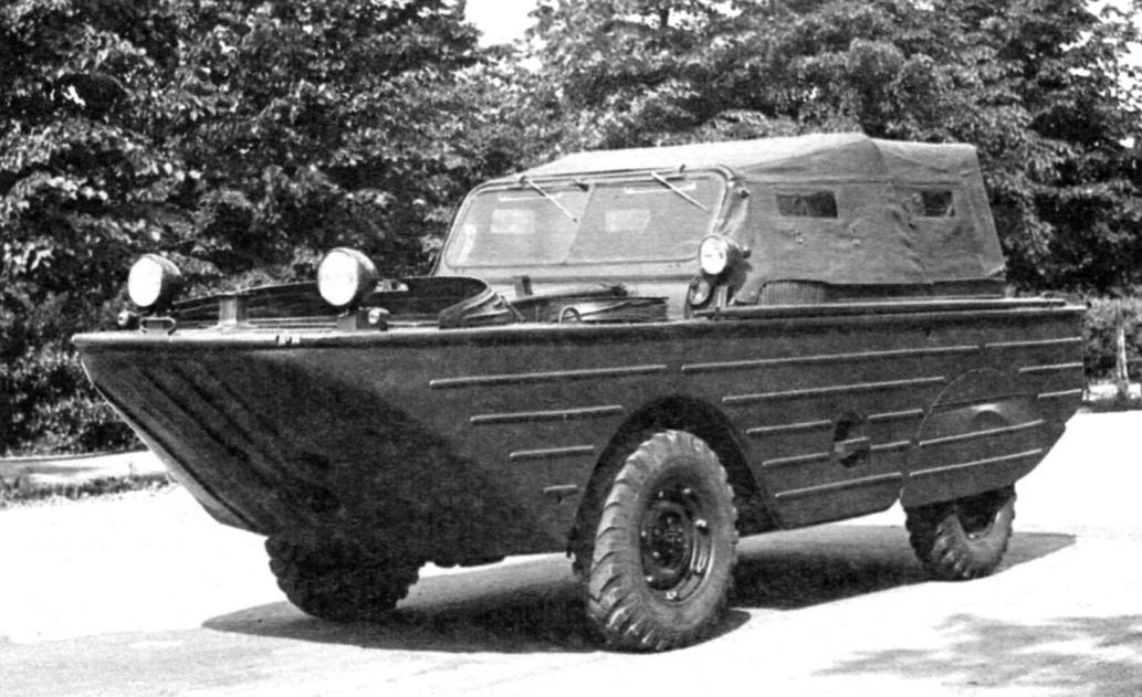 Амфибия ГАЗ-46 с использованием агрегатов ГАЗ-69