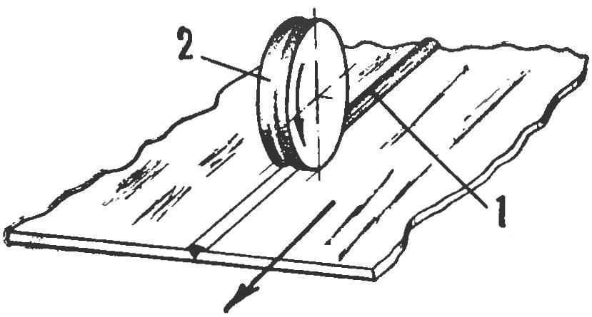 Рис. 7. Срезание усиления сварного шва