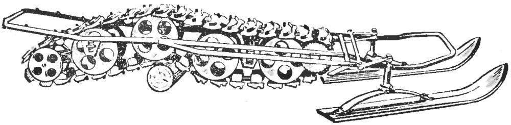 Рис. 2. Ходовая часть мотонарт.