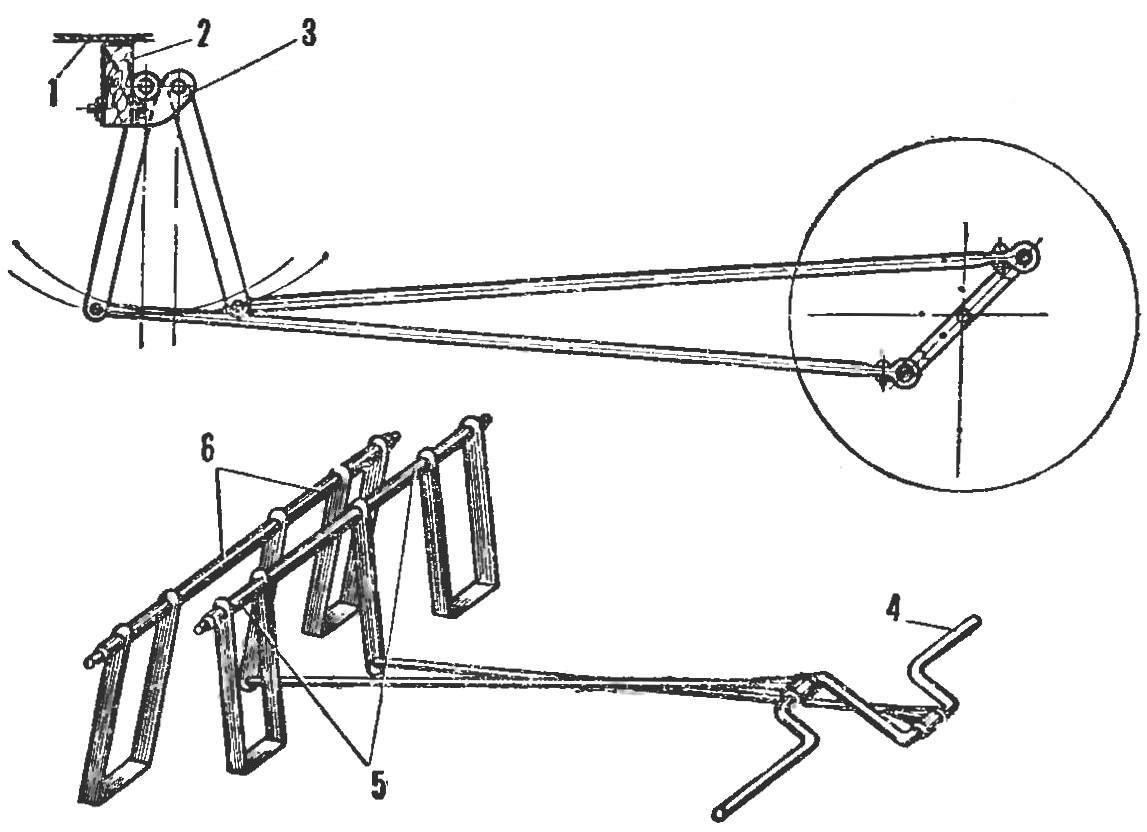 Fig. 4. Design of pedal mechanism