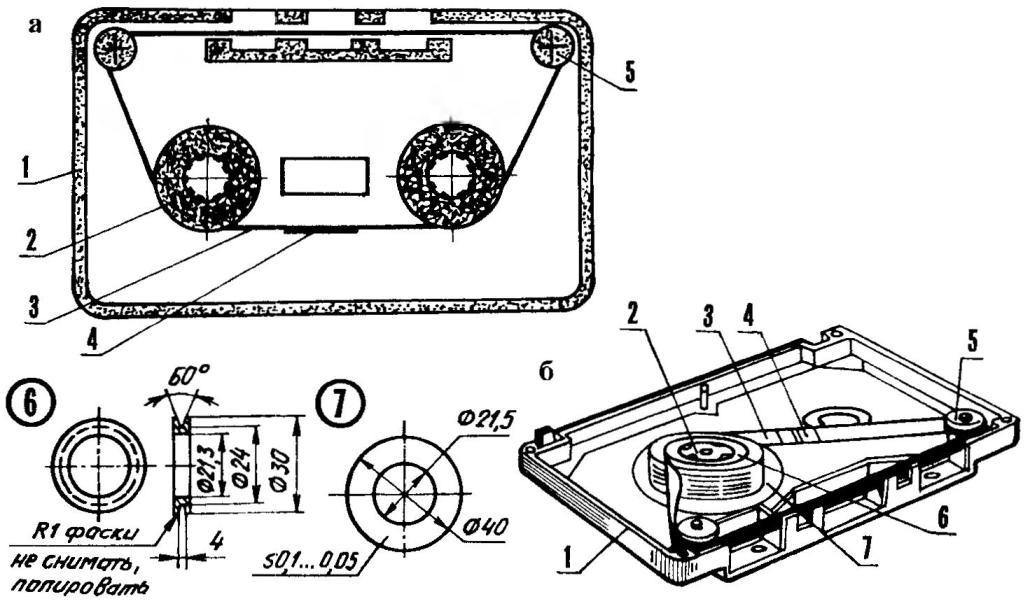Audio ring mini(a) and Maxi-tape (b)