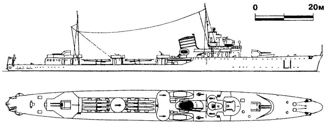 248. Эсминец «Маэстрале», Италия, 1934 г.