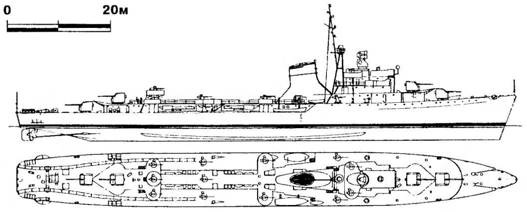 250. Эсминец «Команданте Тоскано», Италии, проект 1942 г.