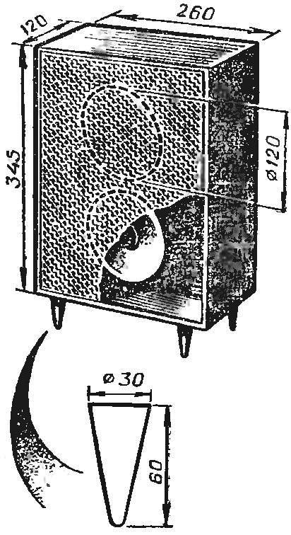 Рис. 5. Эскиз акустической колонки.