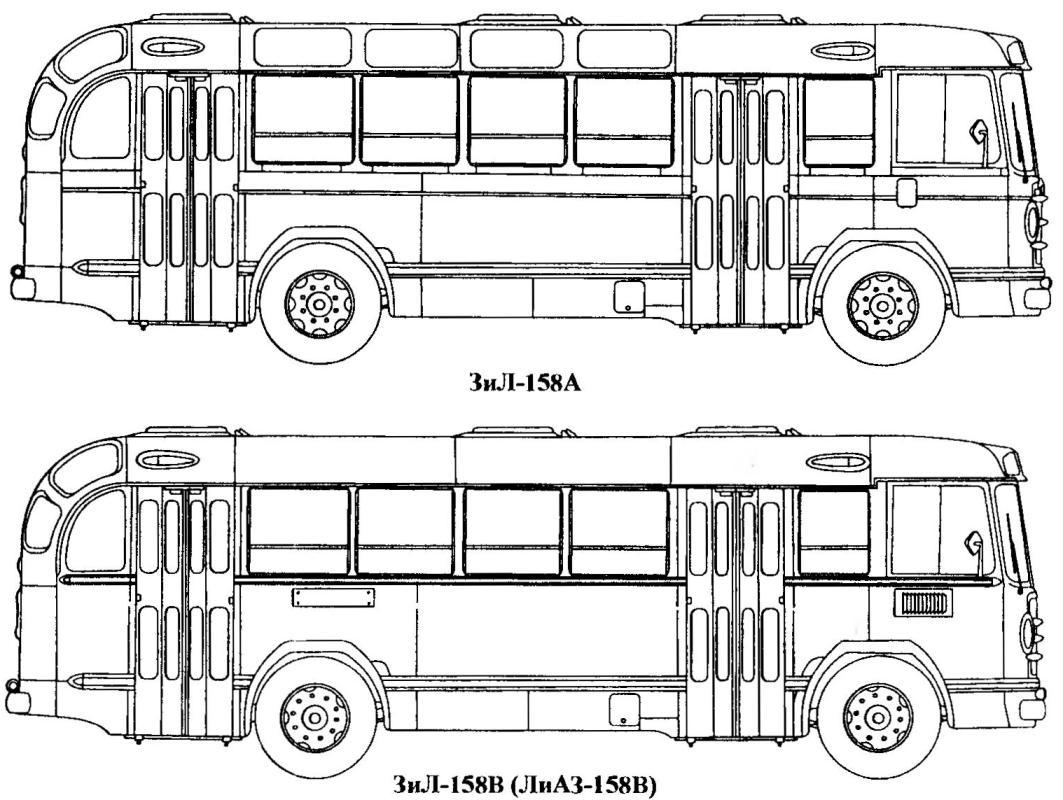 Модификации автобуса ЗиЛ-158
