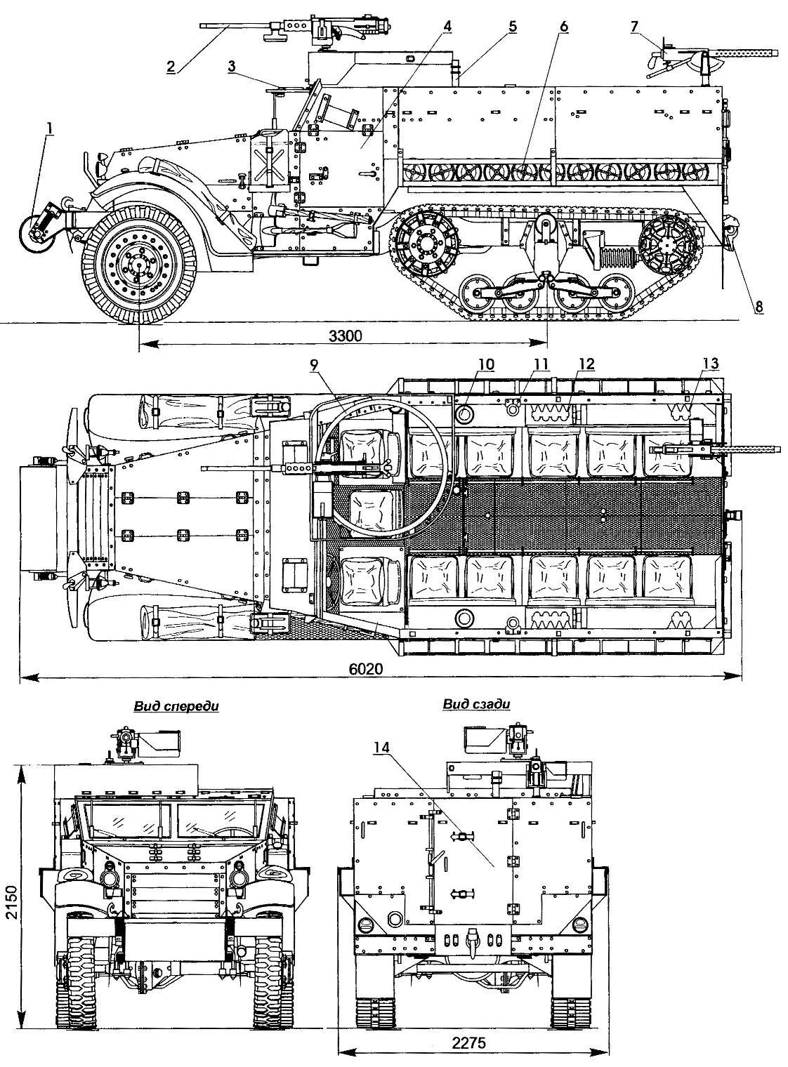 Полугусеничный бронетранспортер M3A1