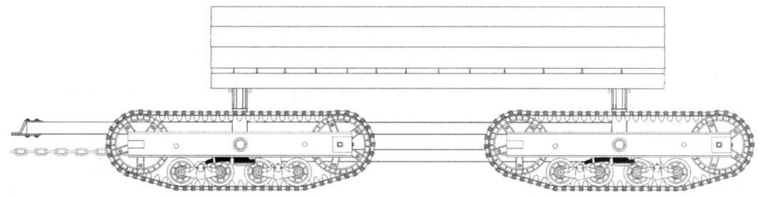 Тракторная лесовозная повозка с грузовой платформой