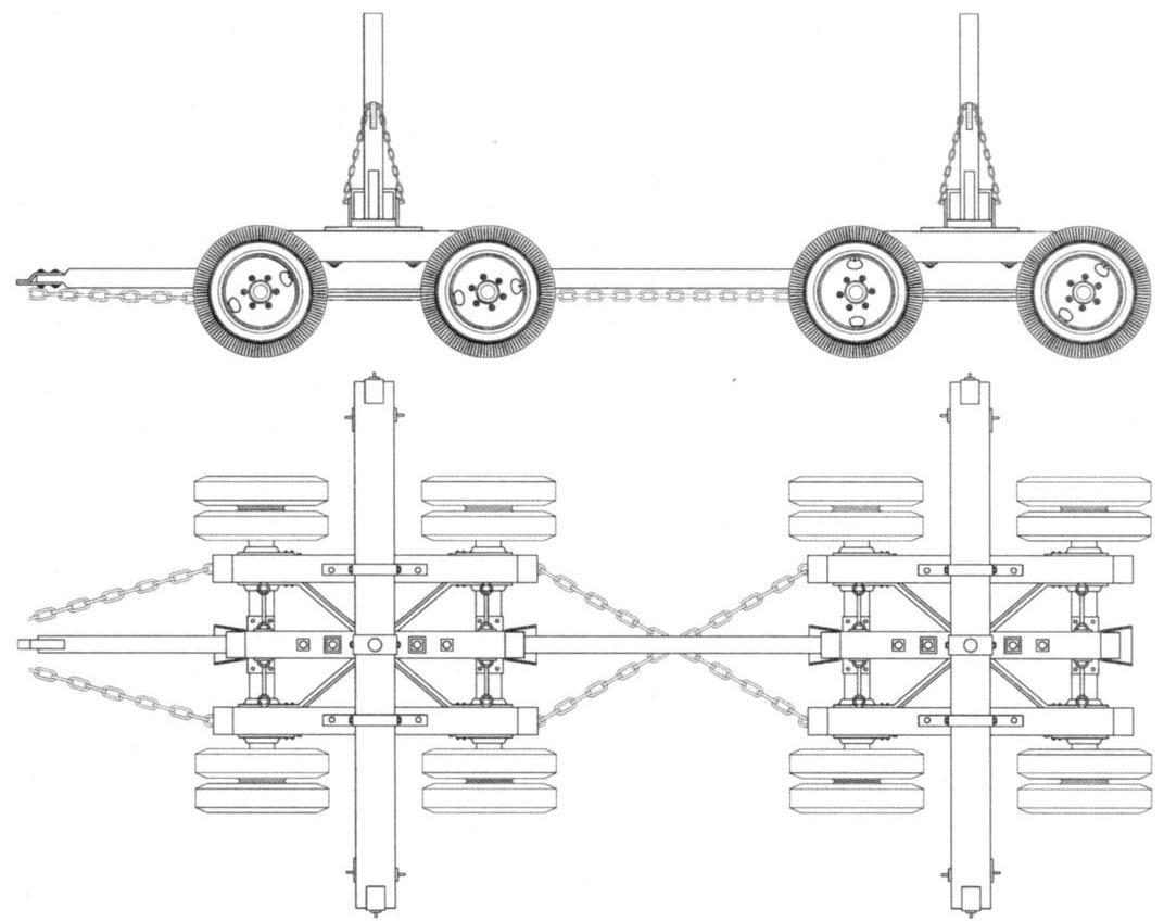 Тракторная четырёхосная колёсная повозка ОЛ-174