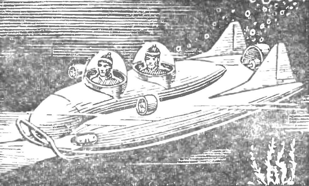 Проект «сухого» аппарата автономного плавания.