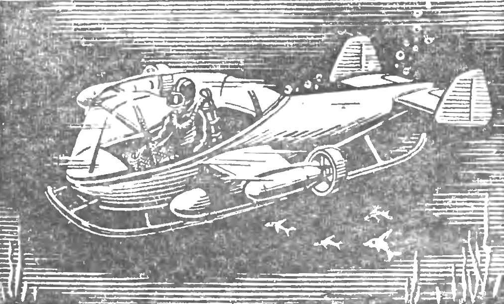 Проект «мокрого» аппарата автономного плавания.