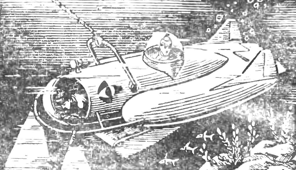Проект «сухого» аппарата, буксируемого рыболовным судном за тралом.