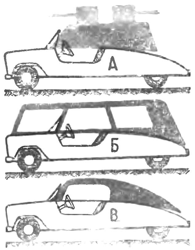 Рис. 4. Различные виды кузовов