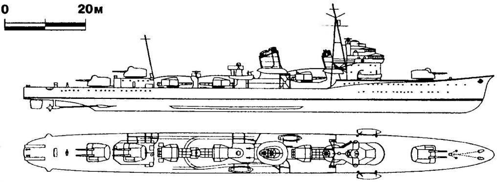 234. Эскадренный миноносец «Хибики», Япония, 1933 г.