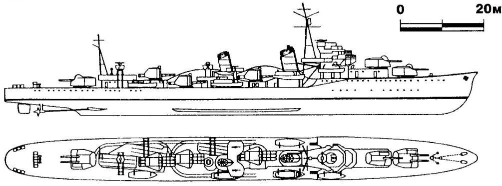 235. Эскадренный миноносец «Ариаке», Япония, 1935 г.