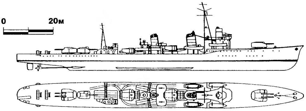 236. Эскадренный миноносец «Сигурэ», Япония, 1936 г.