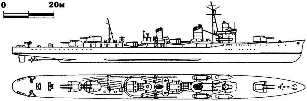 237. Эскадренный миноносец «Асасио», Япония, 1937 г.