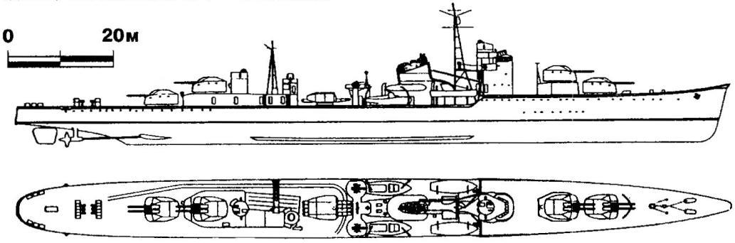 238. Эскадренный миноносец ПВО «Акицуки», Япония, 1942 г.