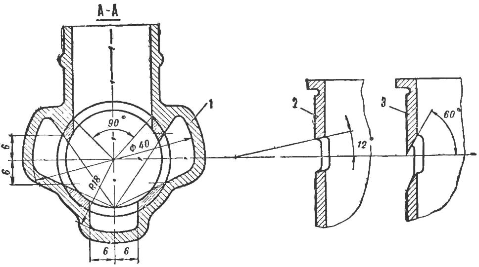 Fig. 2 Transverse and longitudinal cross-section of the sleeve