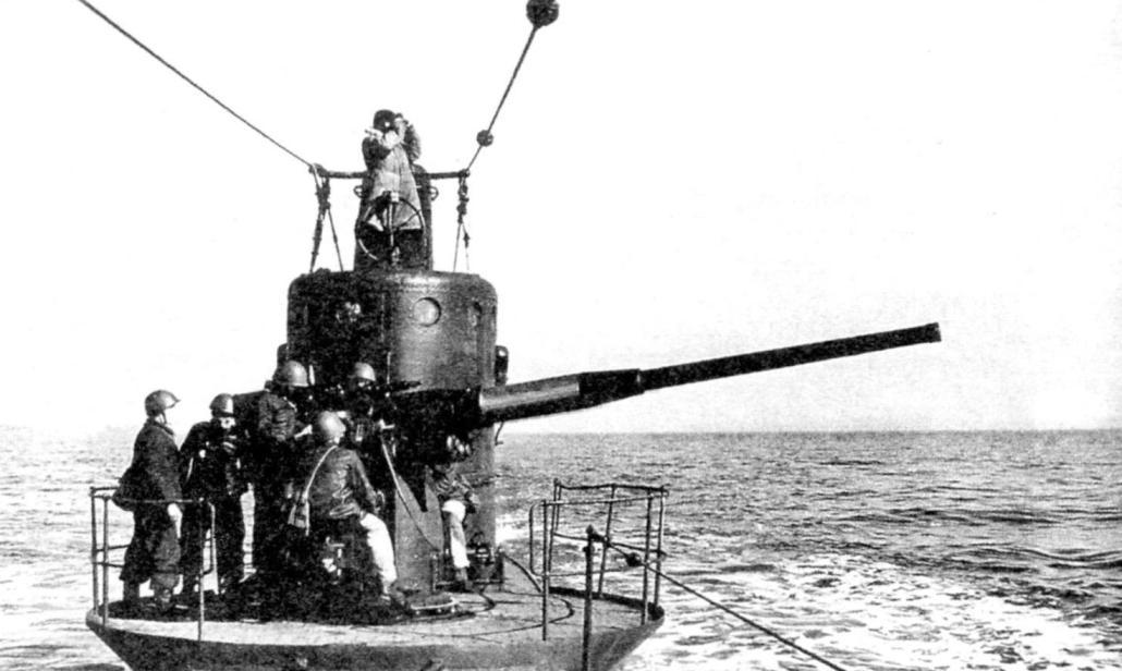 Bow 100-mm gun mount a submarine type C. IX bis series