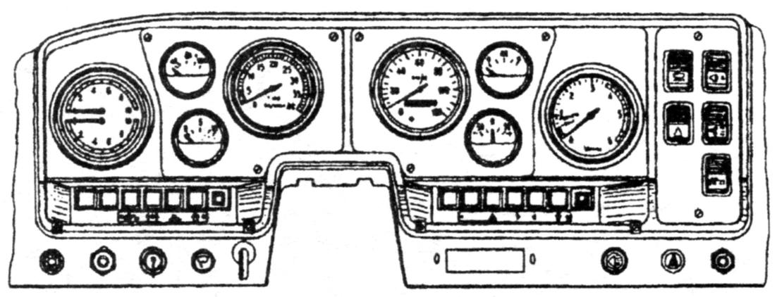 The dashboard of the car