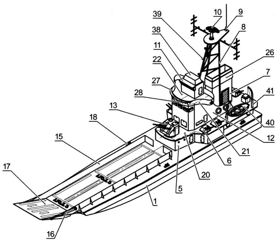 Схема сборки десантного корабля «Янычар»