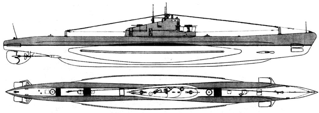 Подводная лодка типа «Щ» (5-бис 2-я серия ). СССР, 1935 г.