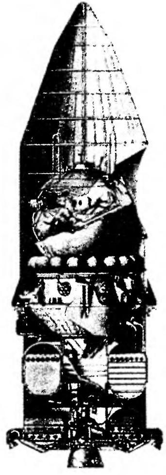 Рис.2. Схема отделения блоков 1-й ступени